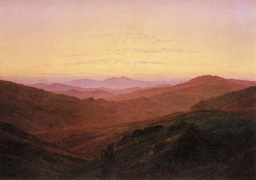 The Riesengebirge (1830-34)   Caspar David Friedrich   oil painting