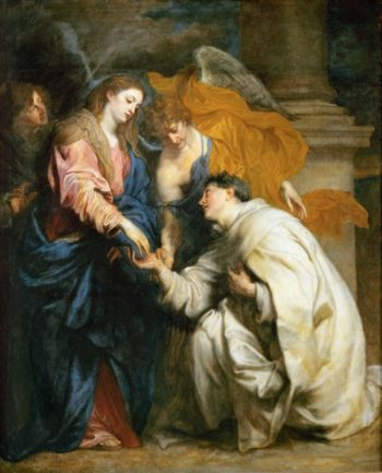 Mystic Marriage of the Blessed Hermann Joseph | Anthony van Dyck | oil painting