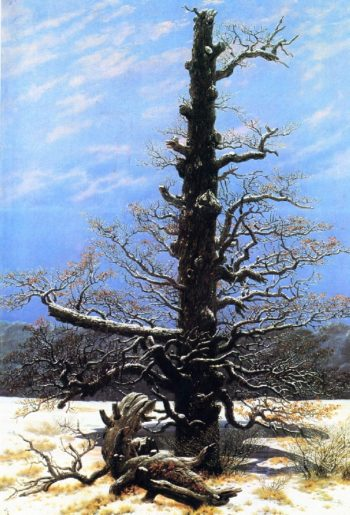 The Oaktree in the Snow (1829) | Caspar David Friedrich | oil painting