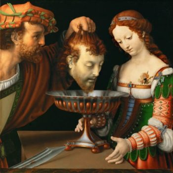 Salome with the Head of Saint John the Baptist | Andrea Solario | oil painting
