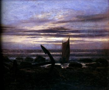 The Evening on the Baltic (1826) | Caspar David Friedrich | oil painting