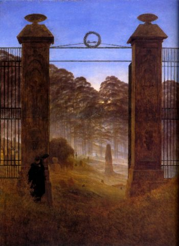 The entrance to the cemetery (1826) | Caspar David Friedrich | oil painting