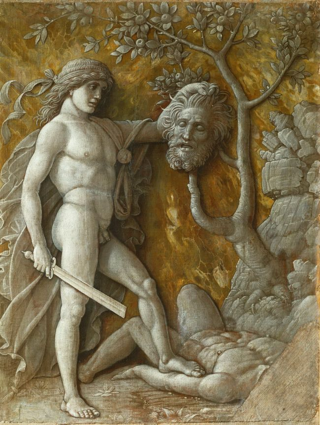 David with the head of Goliath | Andrea Mantegna | oil painting