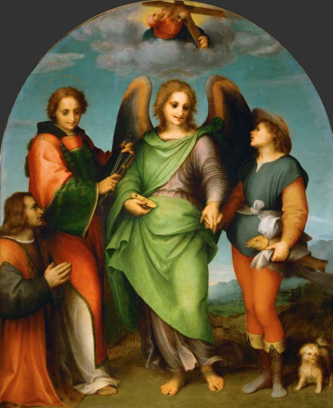 Archangel Raphael with Tobias Saint | Andrea del Sarto | oil painting