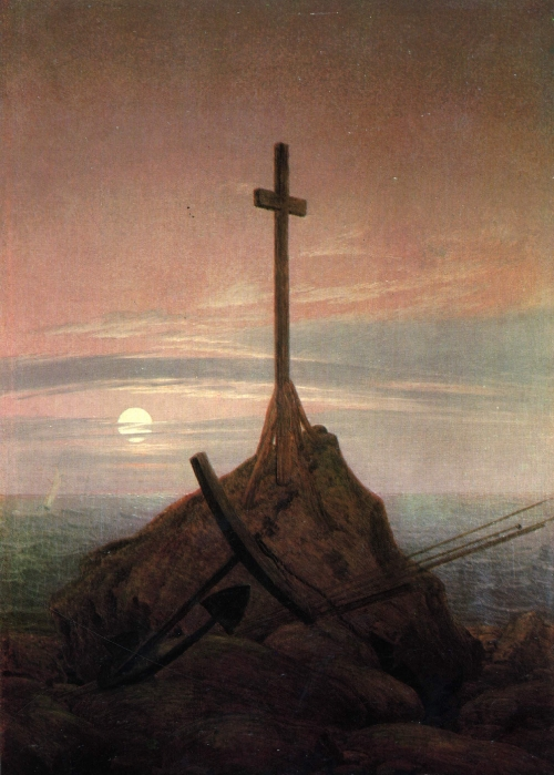The Cross Beside The Baltic (1815) | Caspar David Friedrich | oil painting
