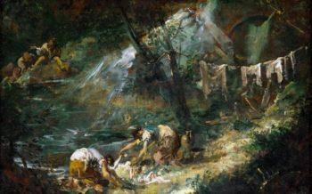 Le lavandaie | Alessandro Magnasco | oil painting