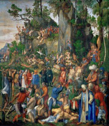 Martyrdom of the Ten Thousand -1508 | Albrecht Durer | oil painting