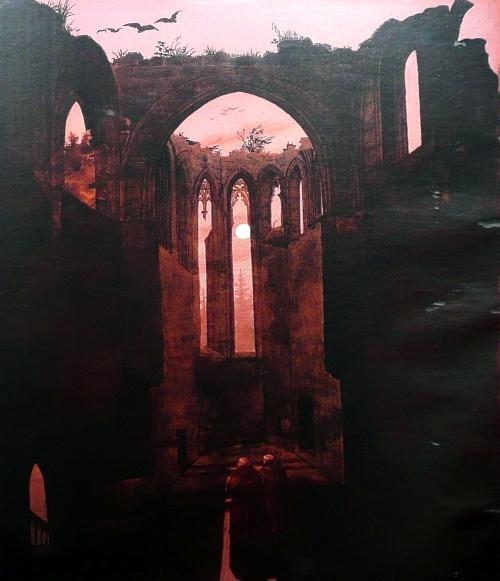 Ruine Oybin bei Mondschein (1812-32)   Caspar David Friedrich   oil painting
