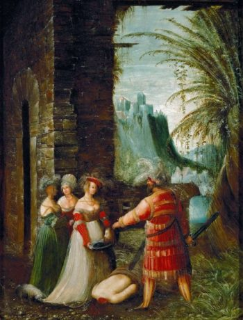 Salome with the Head of John the Baptist   Albrecht Altdorfer   oil painting