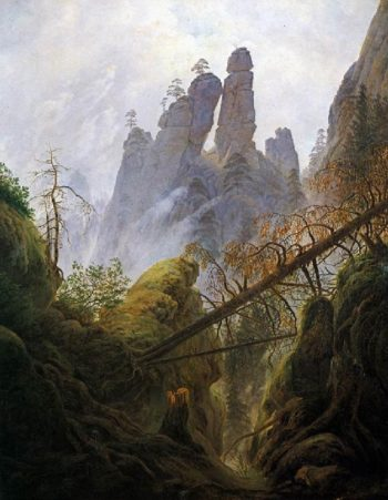 Rocky Ravine (1822-23) | Caspar David Friedrich | oil painting