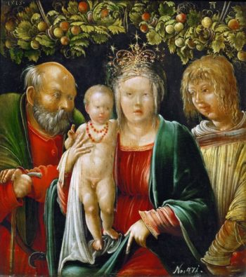 Holy Family and an Angel | Albrecht Altdorfer | oil painting