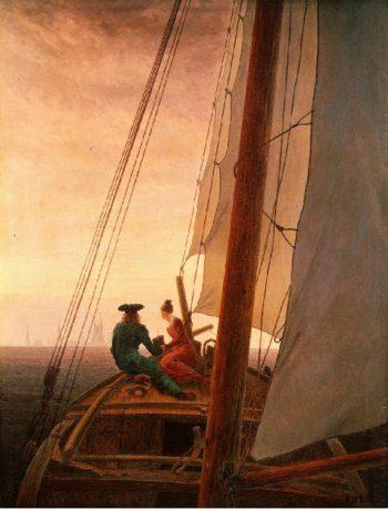 On a Sailing Ship (1819) | Caspar David Friedrich | oil painting