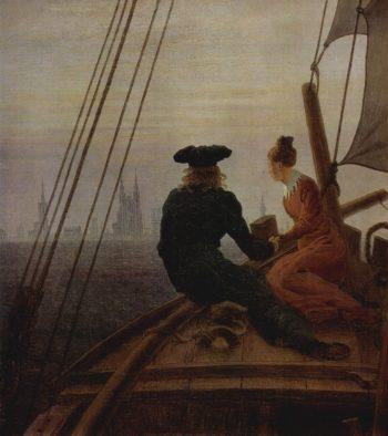 On a Sailing Ship (1819) Detail | Caspar David Friedrich | oil painting