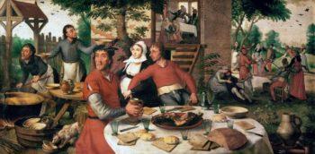 Peasants Feast 1550 | Aertsen Pieter | oil painting