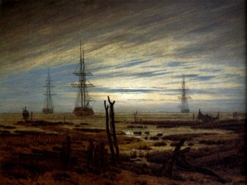 Navires the Ancre (1815) | Caspar David Friedrich | oil painting