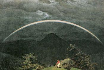 Mountain Landscape with Rainbow V2 | Caspar David Friedrich | oil painting