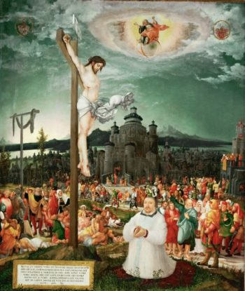 Allegory of Redemption with the donor Prince-Bishop | Wolfgang Huber | oil painting