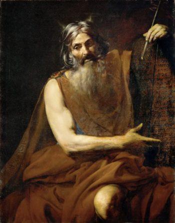 Moses | Valentin de Boulogne | oil painting