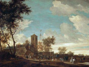 Kermess under the Maypole   Salomon van Ruysdael   oil painting