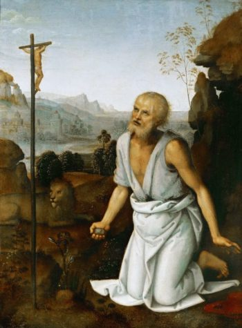 Saint Jerome Penitent | Perugino | oil painting