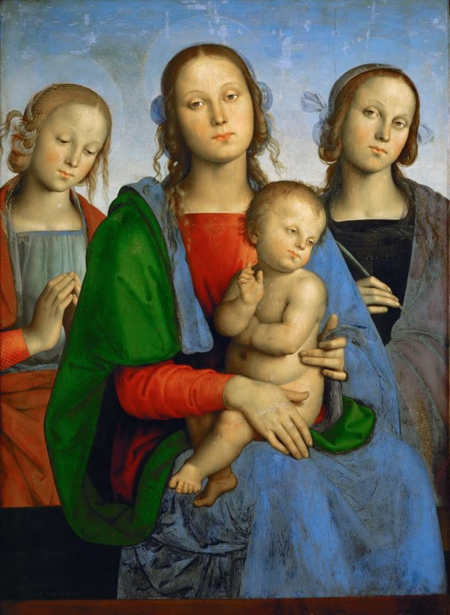 Madonna and Child with Saints Rosa and Catherine | Perugino | oil painting