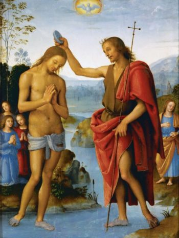 Baptism of Christ | Perugino | oil painting