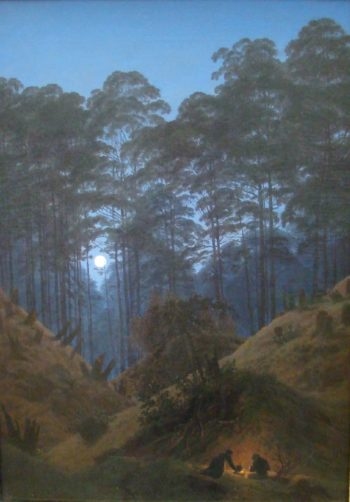 Inside the Forest under the moonlight (1823-30) | Caspar David Friedrich | oil painting