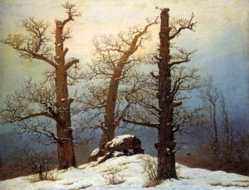 Hun grave in the snow (1807) | Caspar David Friedrich | oil painting
