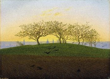 Hill and Ploughed Field near Dresden (1825) | Caspar David Friedrich | oil painting