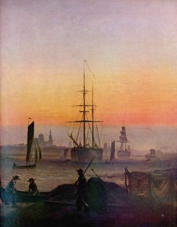 Greifwald Harbour (1818-20) | Caspar David Friedrich | oil painting