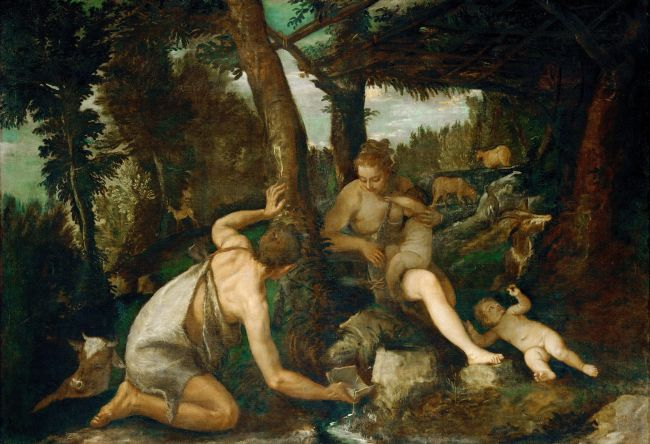 Adam and Eve after the Expulsion from Paradise | Paolo Veronese | oil painting