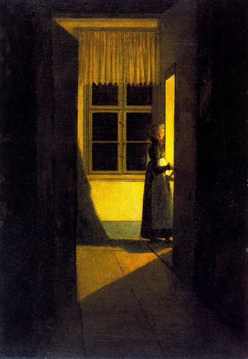 Girl with candlestick (1825) | Caspar David Friedrich | oil painting