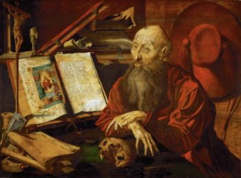 Saint Jerome in Meditation | Marinus van Reymerswaele | oil painting