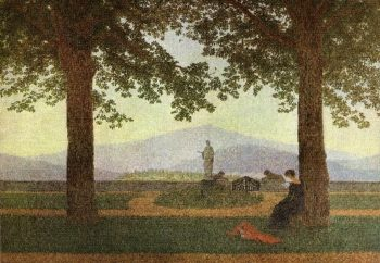 Garden Terrace (1812) | Caspar David Friedrich | oil painting