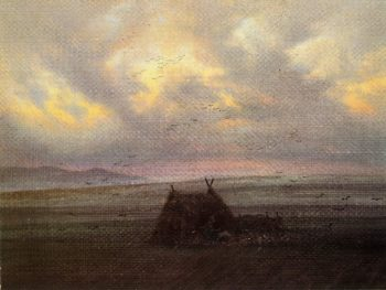 Fog (1818-20) | Caspar David Friedrich | oil painting