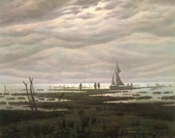 Flat country shank at Greifswalder Bodden | Caspar David Friedrich | oil painting