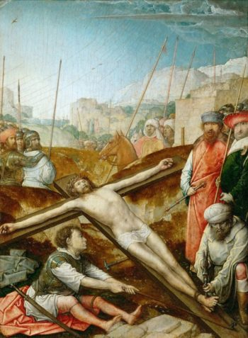 Christ Nailed to the Cross | Juan de Flandes | oil painting