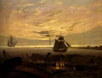 Evening on the Baltic (1831) | Caspar David Friedrich | oil painting
