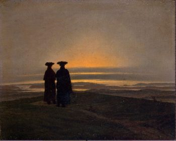 Evening Landscape with Two Men (1830-35) | Caspar David Friedrich | oil painting