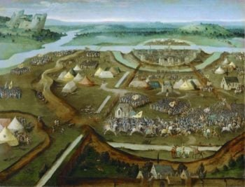 Battle of | Joachim Patinir | oil painting