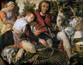 Peasants at the Market   Joachim Beuckelaer   oil painting