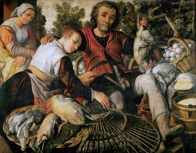 Peasants at the Market | Joachim Beuckelaer | oil painting