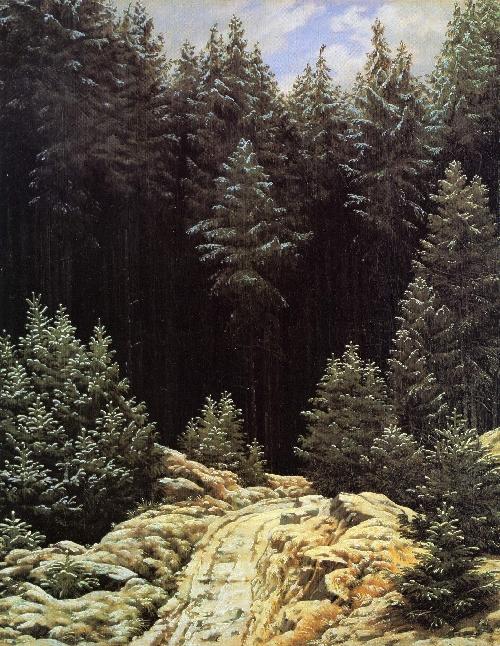Early Snow (1828) | Caspar David Friedrich | oil painting