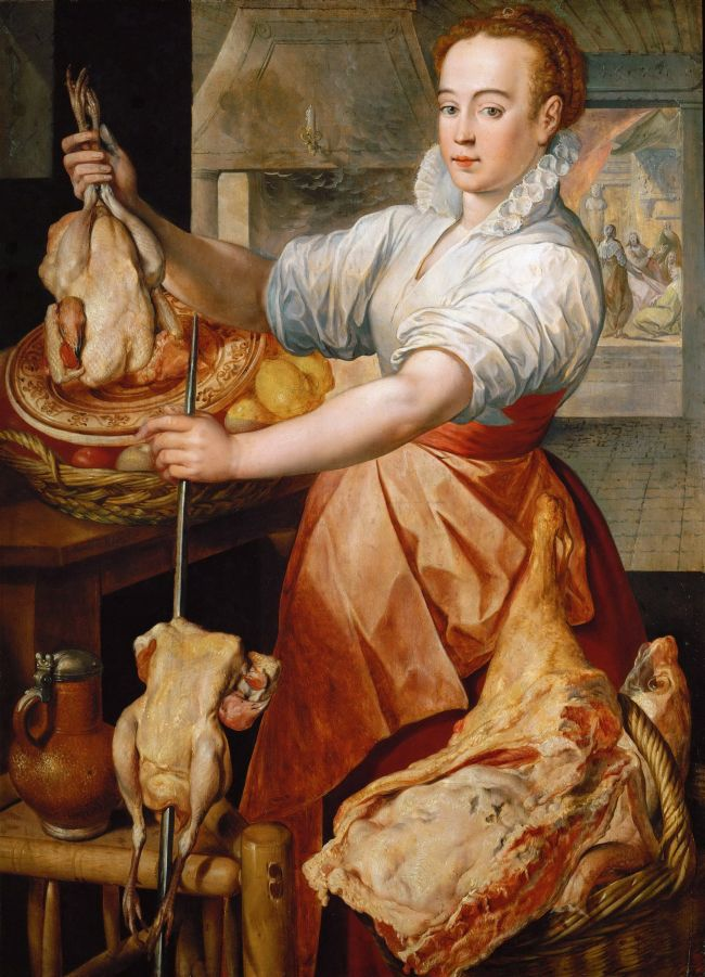 Cook with Chicken | Joachim Beuckelaer | oil painting