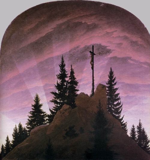Cross in the Mountains (1808) | Caspar David Friedrich | oil painting