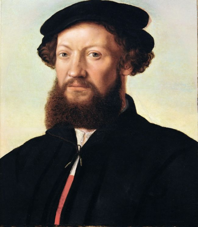 Portrait of a Man in Black | Jan van Hemessen | oil painting