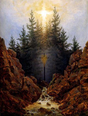 Cross in the Forest (1820)   Caspar David Friedrich   oil painting