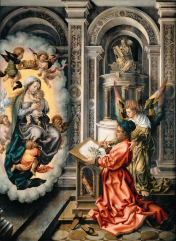 Saint Luke Painting the Virgin and Child | Jan Gossaert | oil painting