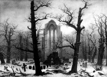 Cloister Cemetery in the Snow (1817-19) | Caspar David Friedrich | oil painting