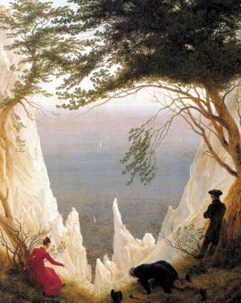 Chalk Cliffs on Rugen (1818) | Caspar David Friedrich | oil painting